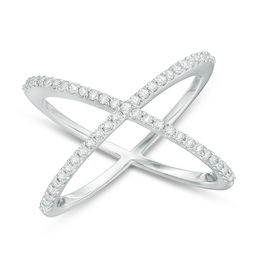1/3 CT. T.W. Diamond Orbit Ring in 10K White Gold