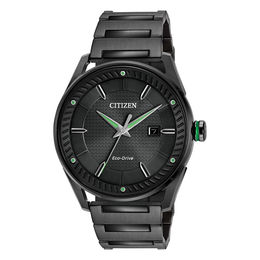 Men's Drive from Citizen Eco-Drive® CTO Black IP Watch with Black Dial (Model: BM6985-55E)