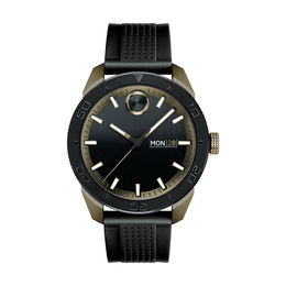 Men's Movado Bold® Two-Tone IP Strap Watch with Black Dial (Model: 3600452)
