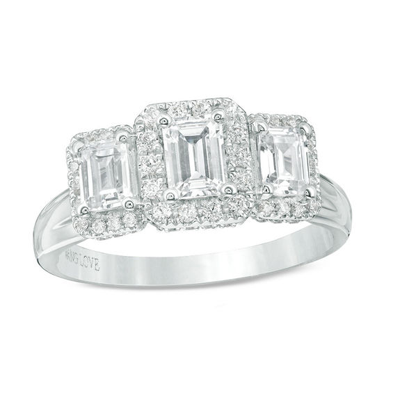 Vera Wang Love Collection 1 1 3 Ct T W Emerald Cut