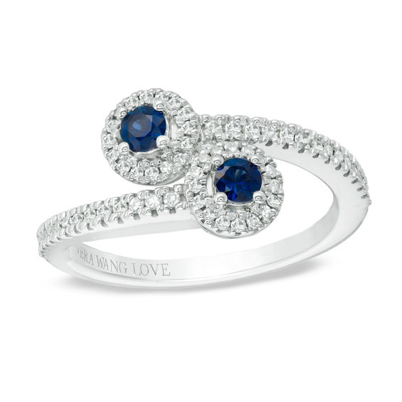 Vera Wang Love Collection Blue Sapphire And 1 5 Ct T W