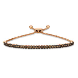 Le Vian Chocolate Diamonds® 1-1/2 CT. T.W. Diamond Bar Bolo Bracelet in 14K Strawberry Gold® - 9.5""
