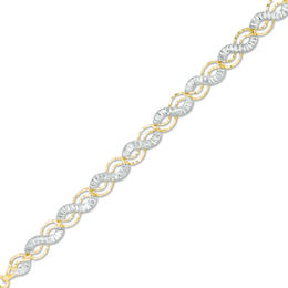 Diamond-Cut Twist Bracelet in 10K Two-Tone Gold - 7.25""