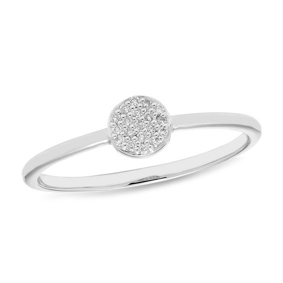 Zales Diamond Accent Circle Ring in 10K White Gold Ji0BuhO8pX