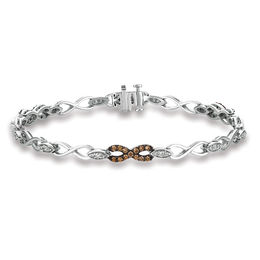 Le Vian Chocolate Diamonds® 5/8 CT. T.W. Diamond Infinity Bracelet in 14K Vanilla Gold®