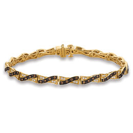 Le Vian Chocolate Diamonds® 7/8 CT. T.W. Diamond Twist Bracelet in 14K Honey Gold™