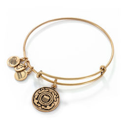 Alex and Ani U.S. Coast Guard Charm Bangle in Gold-Tone Brass