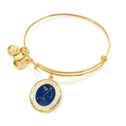 Alex and Ani Capricorn Constellation Charm Bangle in Brass with Gold Electroplate