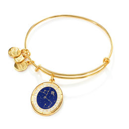 Alex and Ani Scorpio Constellation Charm Bangle in Brass with Gold Electroplate