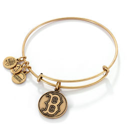 Alex and Ani Boston Red Sox Logo Charm Bangle in Gold-Tone Brass