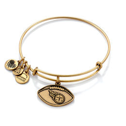 Alex and Ani Tennessee Titans Football Charm Bangle in Gold-Tone Brass