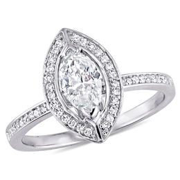 3/4 CT. T.W. Marquise Diamond Frame Engagement Ring in 14K White Gold