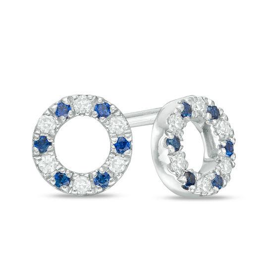 Zales Blue Diamond Stud Earrings