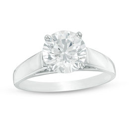 2 CT. Diamond Solitaire Engagement Ring in 14K White Gold