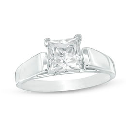 1-1/2 CT. Princess-Cut Solitaire Engagement Ring in 14K White Gold