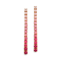 Le Vian® Passion Ruby™ and Strawberry Sapphires™ Ombre™ Stick Drop Earrings in 14K Strawberry Gold®