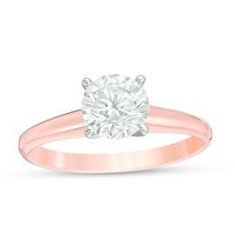 1 CT. Certified Diamond Solitaire Engagement Ring in 14K Rose Gold (I/SI2)