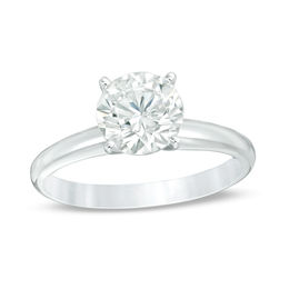 1-1/5 CT. Certified Diamond Solitaire Engagement Ring in 14K White Gold (I/SI2)