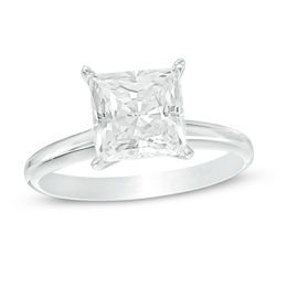 2 CT. Certified Princess-Cut Diamond Solitaire Engagement Ring in 14K White Gold (I/SI2)