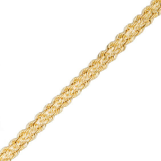 Made In Italy 4 2mm Double Rope Chain Bracelet 14k Gold 7 5