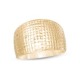 Made in Italy Diamond-Cut Wide Dome Ring in 14K Gold