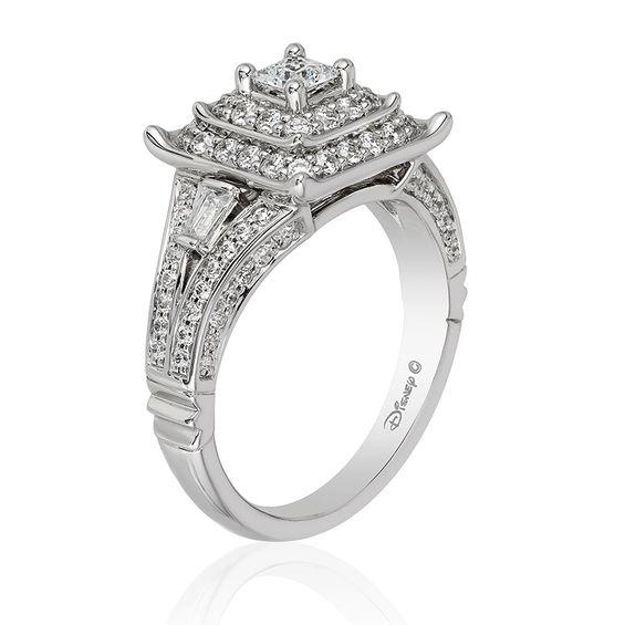 Enchanted Disney Mulan 1 Ct T W Princess Cut Diamond
