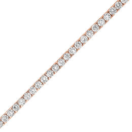 5 CT. T.W. Diamond Tennis Bracelet in 14K Rose Gold