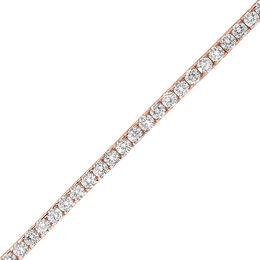 7.95 CT. T.W. Diamond Tennis Bracelet in 14K Rose Gold