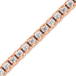 5 CT. T.W. Diamond Ribbon Tennis Bracelet in 14K Rose Gold