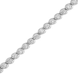 2 CT. T.W. Diamond Wave Tennis Bracelet in 14K White Gold