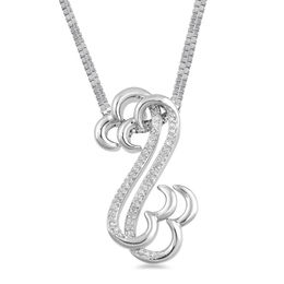 Open Hearts by Jane Seymour™ 1/15 CT. T.W. Diamond Layered Interlocking Pendant Set in Sterling Silver