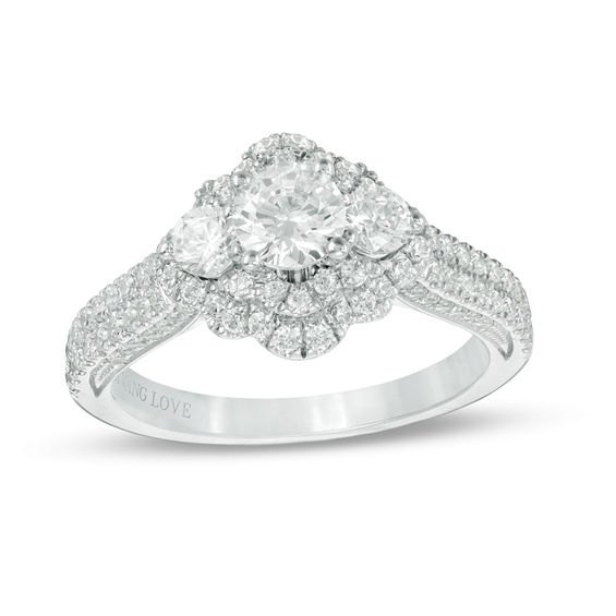 Vera Wang Love Collection 1-3/8 CT. T.W. Diamond Three