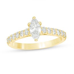 1 CT. T.W. Certified Marquise Diamond Engagement Ring in 14K Gold (I/I1)