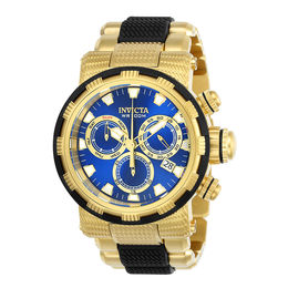 Men's Invicta Specialty Chronograph Gold-Tone Watch with Blue Dial (Model: 23979)