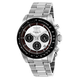 Men's Invicta Speedway Chronograph Watch with White Dial (Model: 23121)