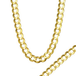 Men's 7.0mm Curb Chain Necklace in 14K Gold - 28""