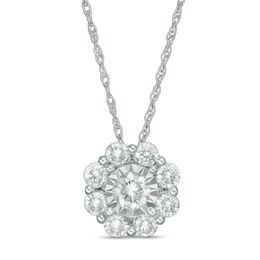 1/2 CT. T.W. Diamond Snowflake Pendant in 10K White Gold