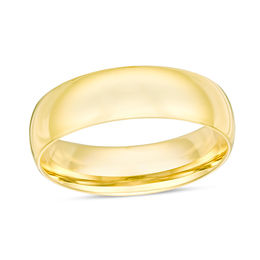Wedding bands wedding zales mens 60mm comfort fit wedding band in 14k gold junglespirit Choice Image