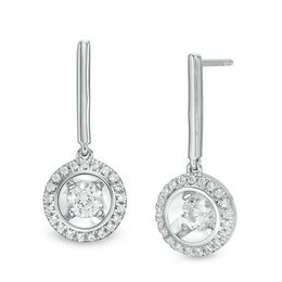 Magnificence™ 1/3 CT. T.W. Diamond Frame Drop Earrings in 10K White Gold