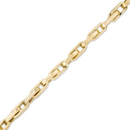 Men's 4.6mm Oval Link Bracelet in 14K Gold - 8.25""