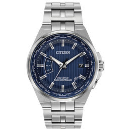 Men's Citizen World Perpetual A-T Watch with Blue Dial (Model: CB0160-51L)