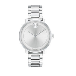 Ladies' Movado Bold® Sugar Watch with Silver-Tone Dial (Model: 3600501)