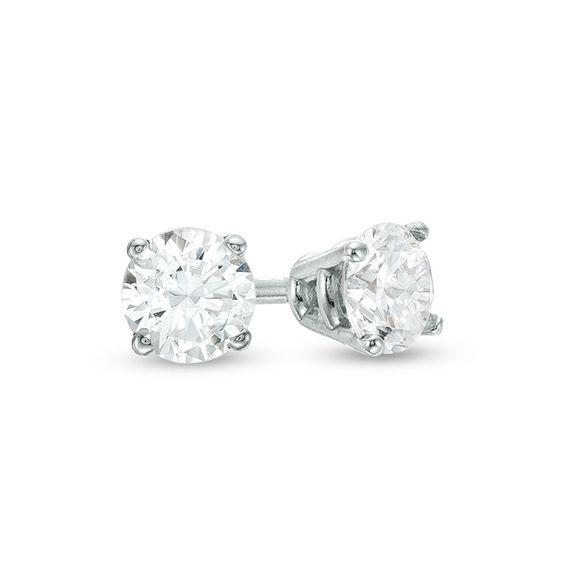 Zales 1/8 CT. T.w. Diamond Solitaire Stud Earrings in 10K Gold rxhiYmEzxZ