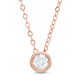 1/4 CT. Diamond Solitaire Pendant in 14K Rose Gold