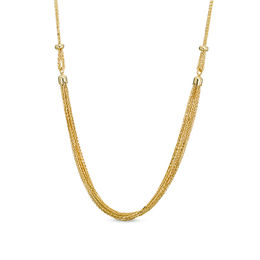 Made in Italy Layered Wheat Chain Necklace in 14K Gold