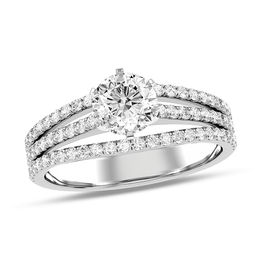 1 CT. T.W. Diamond Double Split Shank Engagement Ring in 10K White Gold