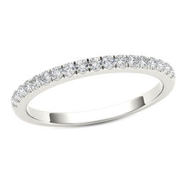 1/3 CT. T.W. Diamond Wedding Band in 10K White Gold