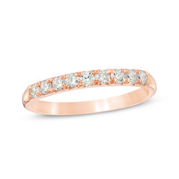 3/8 CT. T.W. Diamond Nine Stone Anniversary Band in 10K Rose Gold