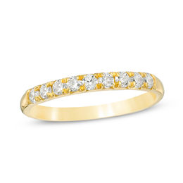 3/8 CT. T.W. Diamond Nine Stone Anniversary Band in 10K Gold