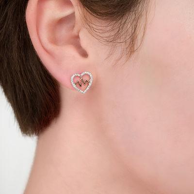 24K Gold Plated Earrings 18K Rose Gold Plated Ear Studs Sterling Silver Heart Studs Star Earrings